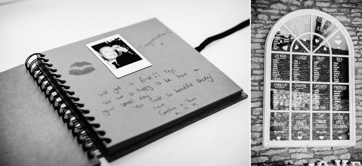 caswell house wedding photography guest sign book
