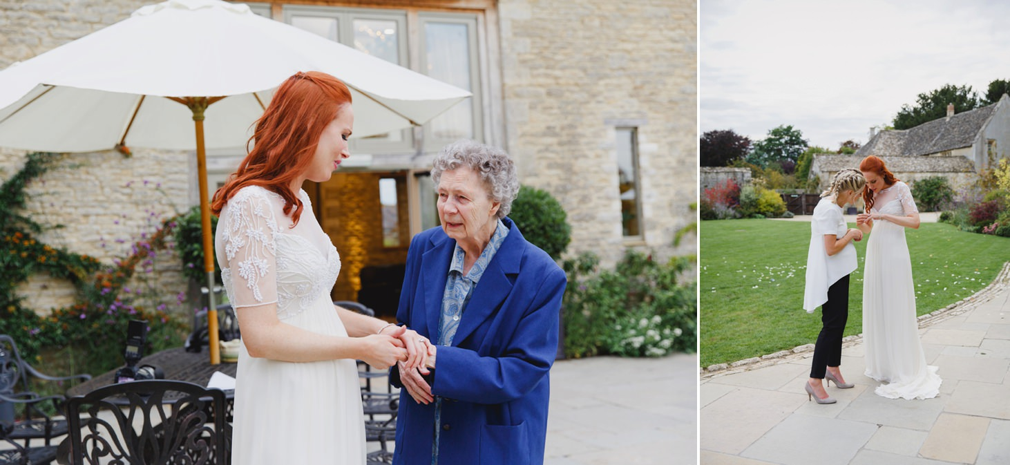 caswell house wedding photography bride and grandmother