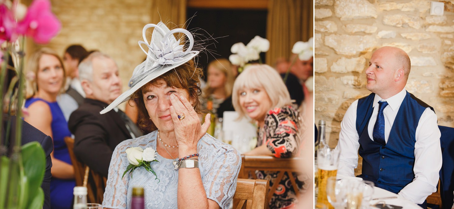 caswell house wedding photography reaction to speeches