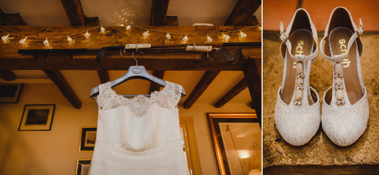 Bodleian library wedding dress and shoes