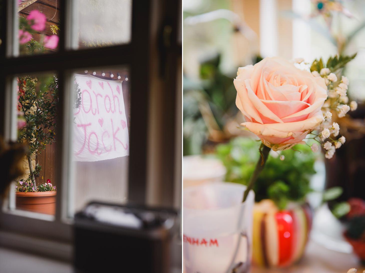 Bodleian library wedding flowers