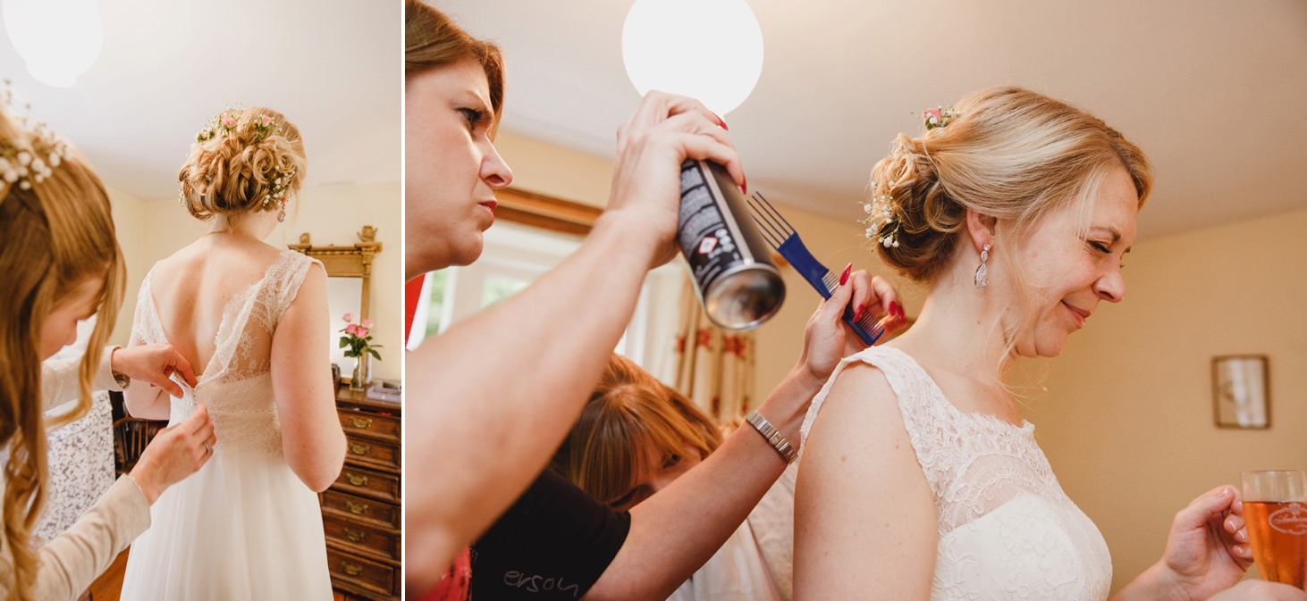 Bodleian library wedding bride final touchers