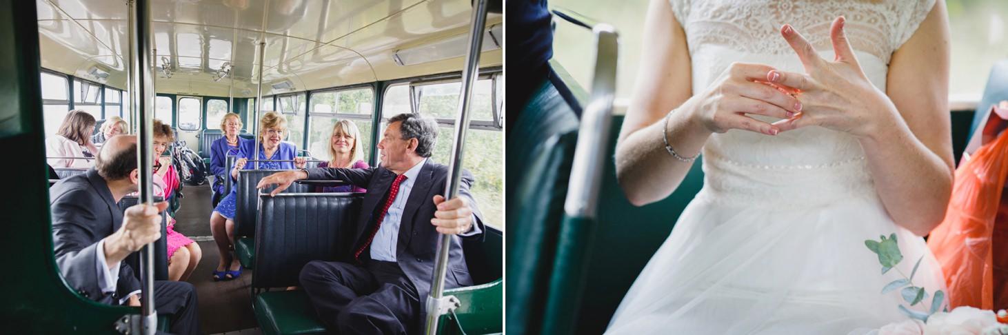 Bodleian library wedding vintage wedding bus