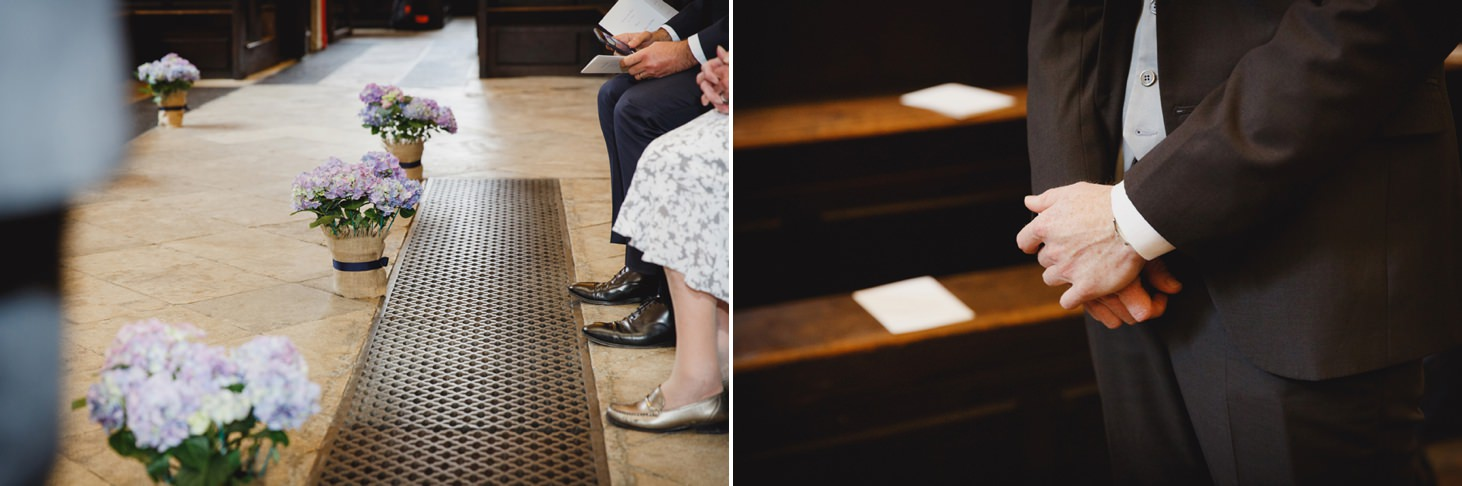 Bodleian library wedding ceremony flowers details