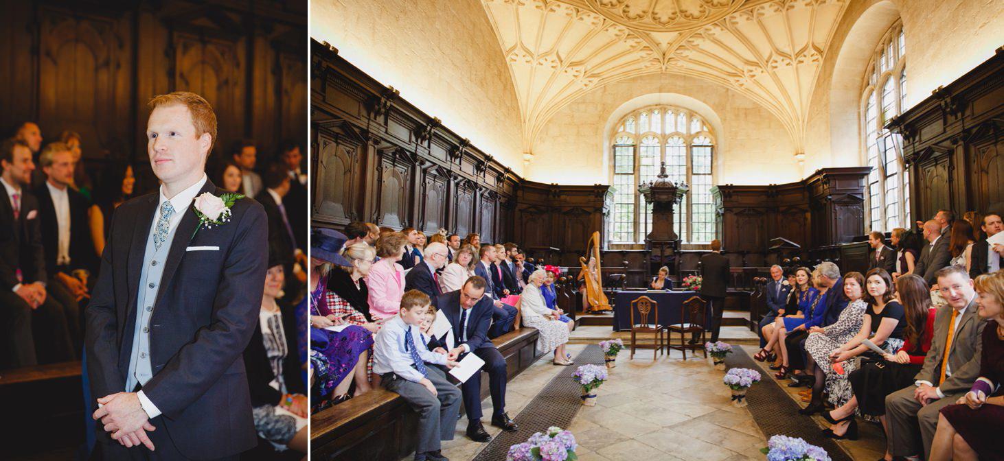 Bodleian library wedding groom waiting