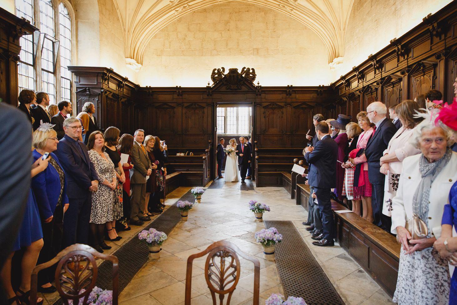 Bodleian library wedding bride entry