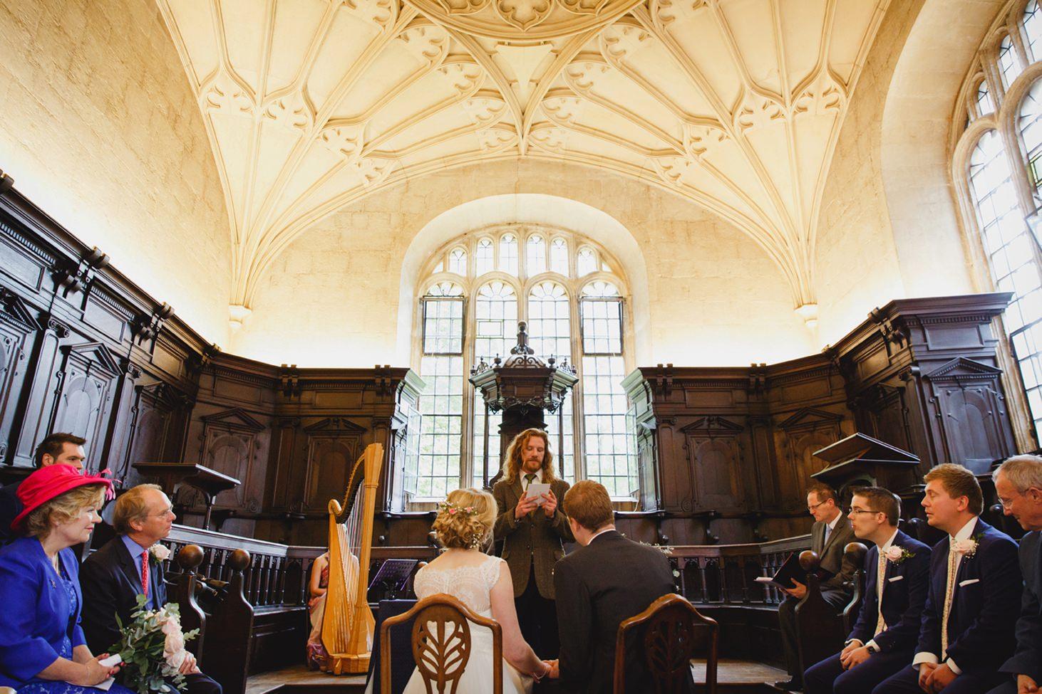 Bodleian library wedding ceremony reading