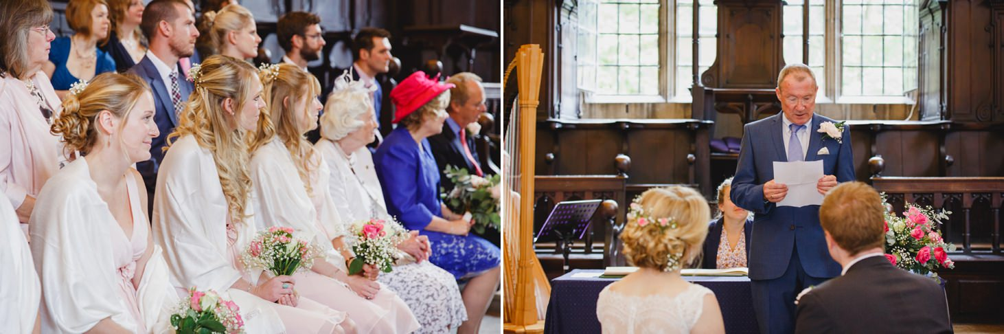 Bodleian library wedding wedding guests reading