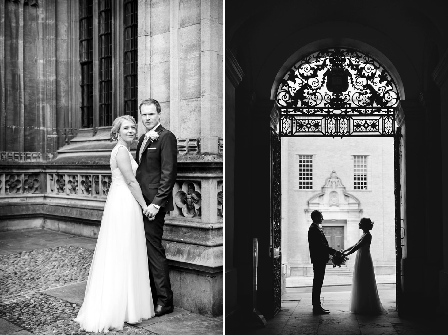 Bodleian library wedding bride and groom silhouette