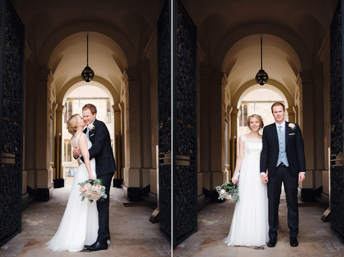 Bodleian library wedding bride and groom in doorway