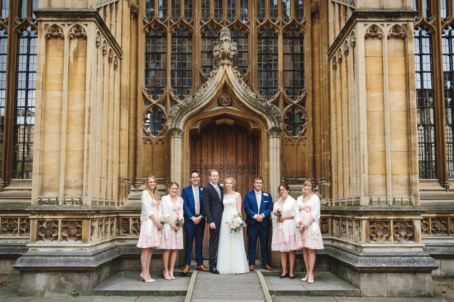 Bodleian library wedding bridesmaids and groomsmen