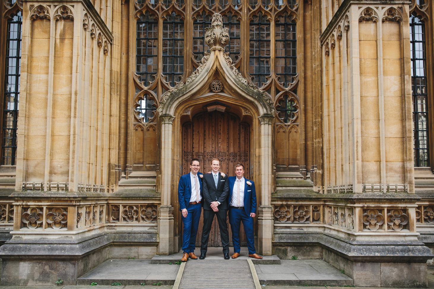 Bodleian library wedding groomsmen