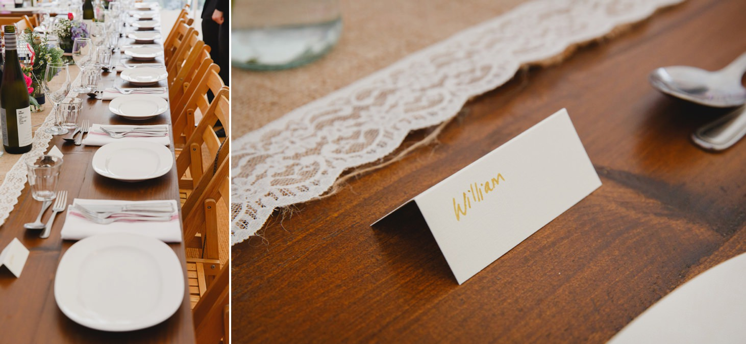 Bodleian library wedding table place holders