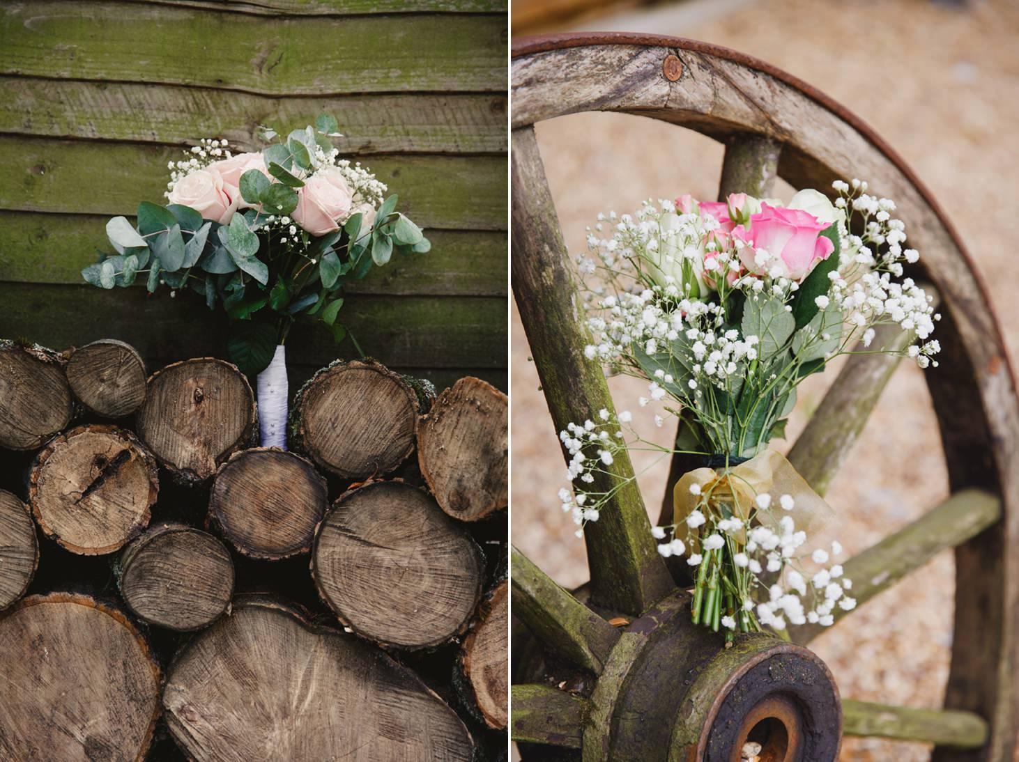 Bodleian library wedding bouquet details