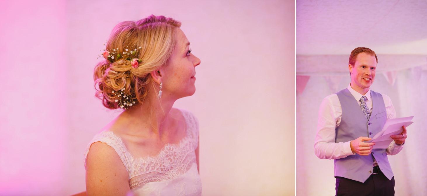 Bodleian library wedding bride watching grooms speech