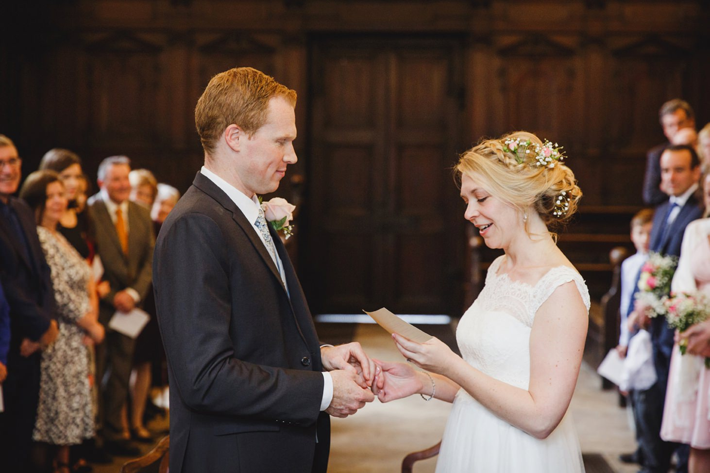 Bodleian library wedding bride saying vows