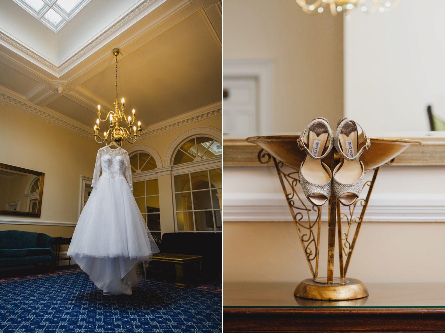 Down Hall hotel wedding photography wedding dress