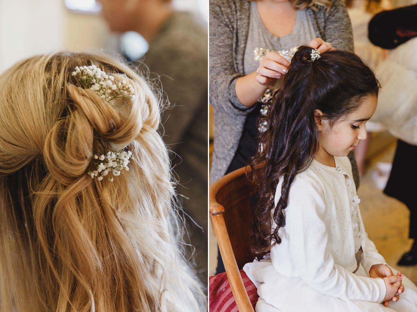 Down Hall hotel wedding photography bridesmaids hair