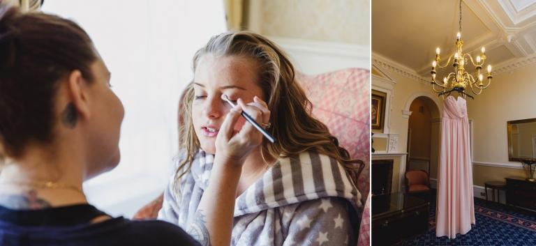Down Hall hotel wedding photography bridesmaids makeup