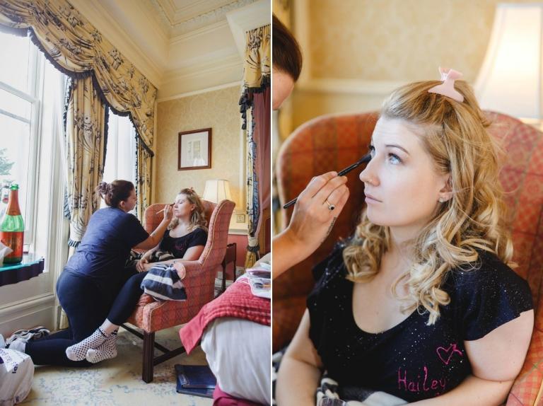 Down Hall hotel wedding photography bridal prep