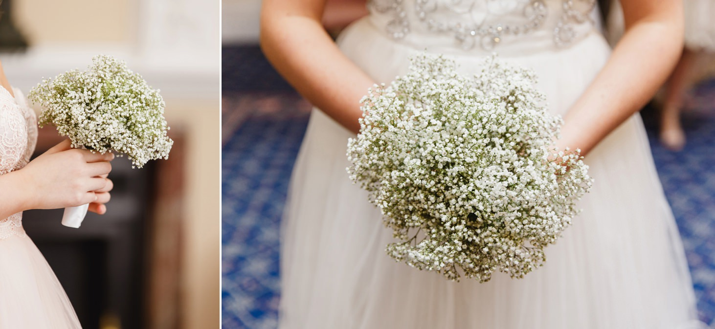 Down Hall hotel wedding photography bridesmaids bouquets