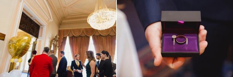 Down Hall hotel wedding photography wedding rings
