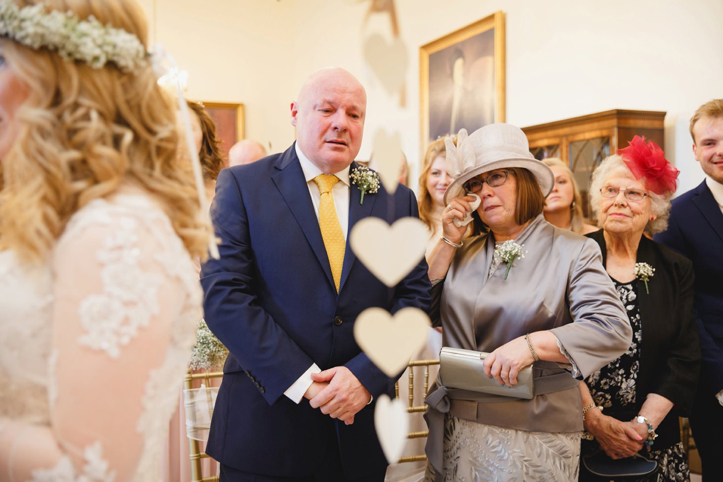 Down Hall hotel wedding photography mother of the bride