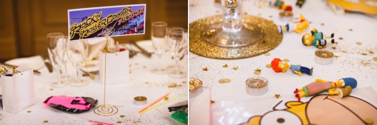 Down Hall hotel wedding photography rollercoaster table decorations