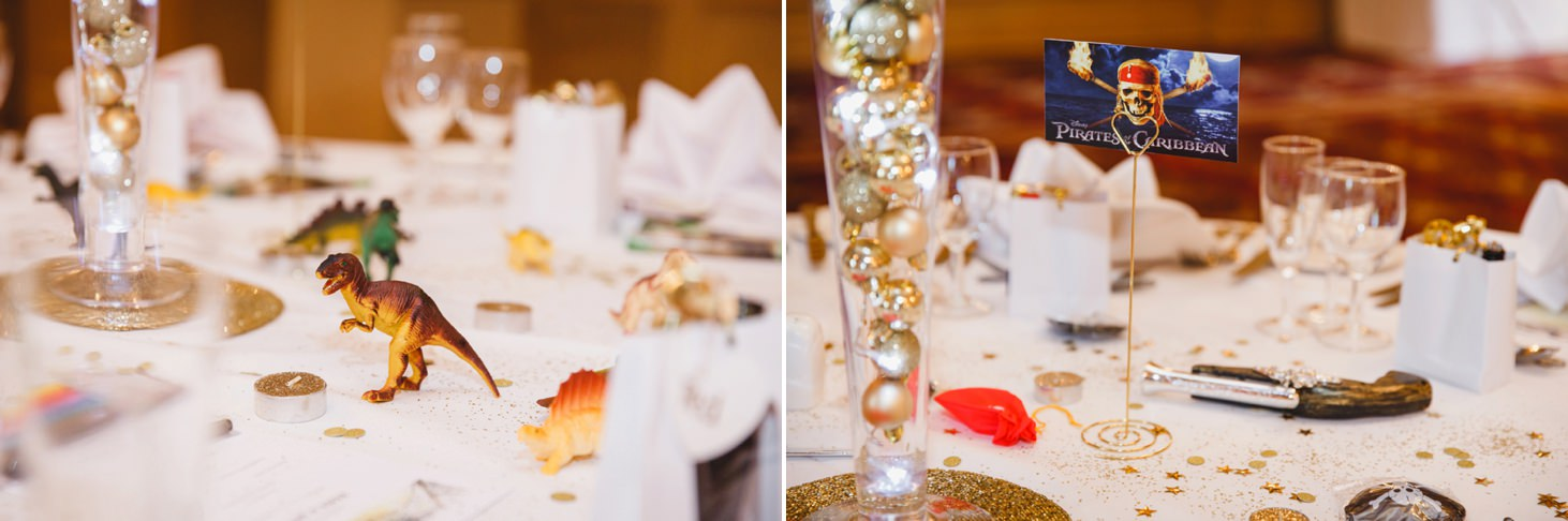 Down Hall hotel wedding photography pirates of the caribbean decorations