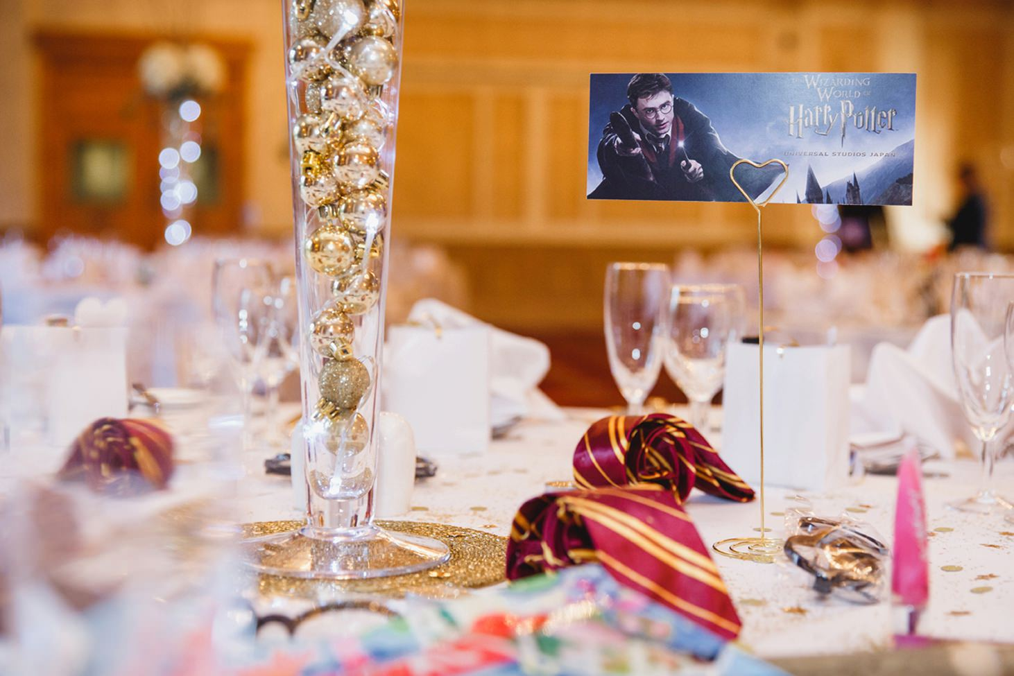 Down Hall hotel wedding photography harry potter decorations