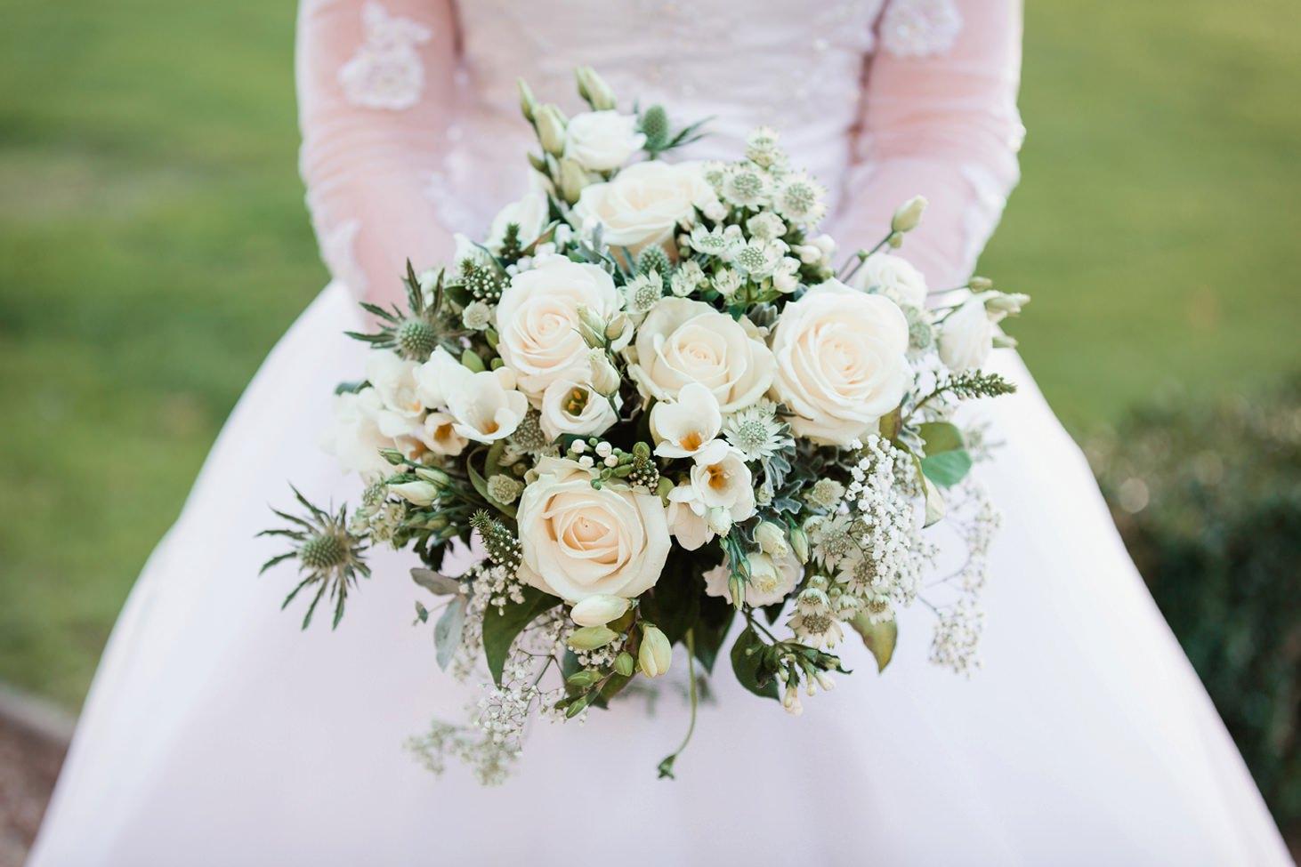 Down Hall hotel wedding photography brides bouquet