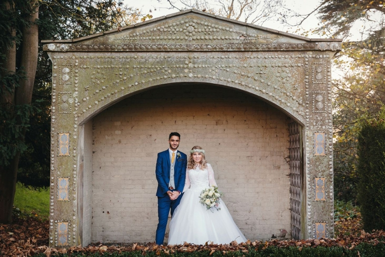 Down Hall hotel wedding photography bride and groom