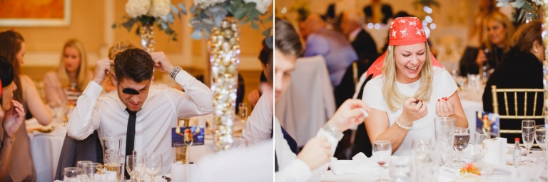 Down Hall hotel wedding photography guests dress as pirates