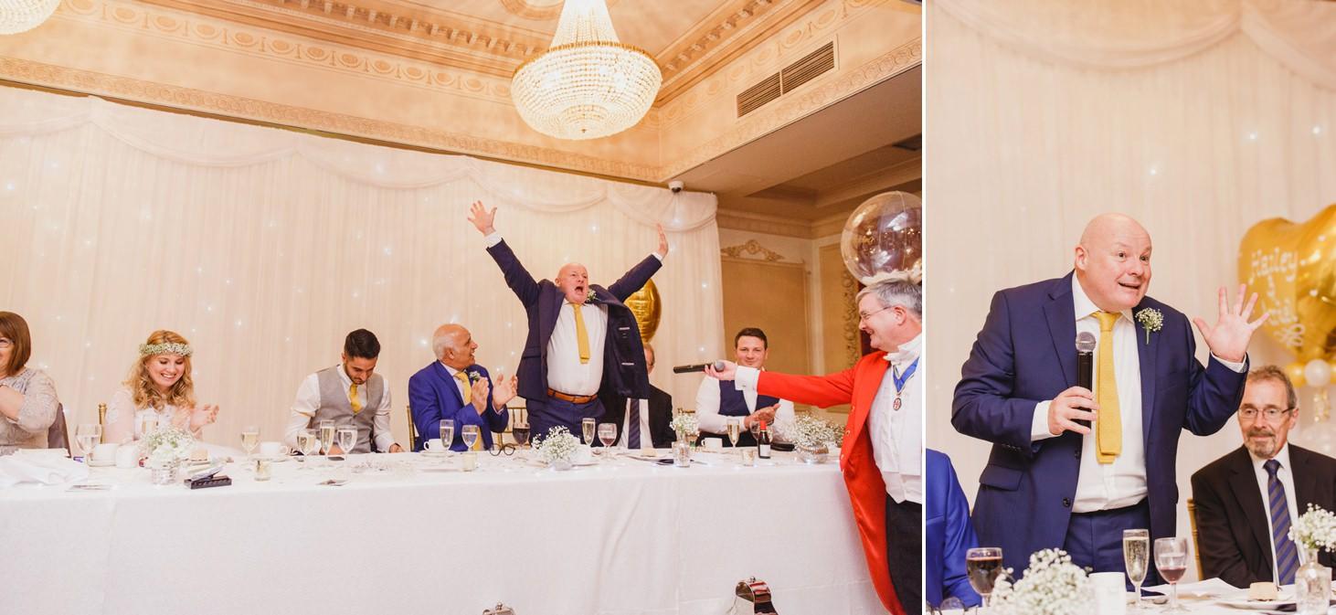 Down Hall hotel wedding photography speeches