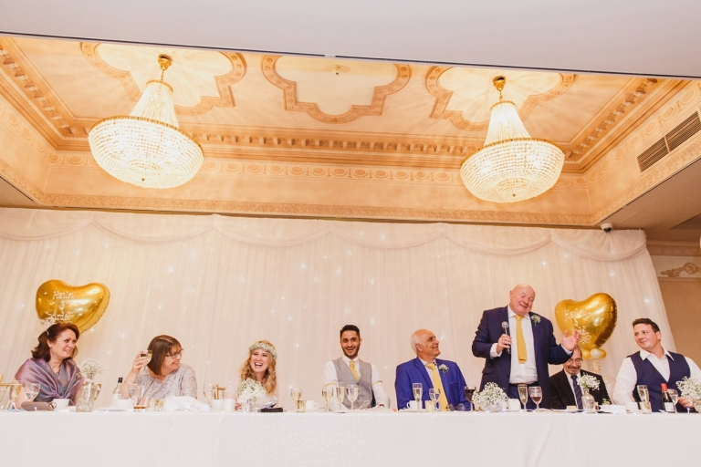 Down Hall hotel wedding photography father of the bride speech