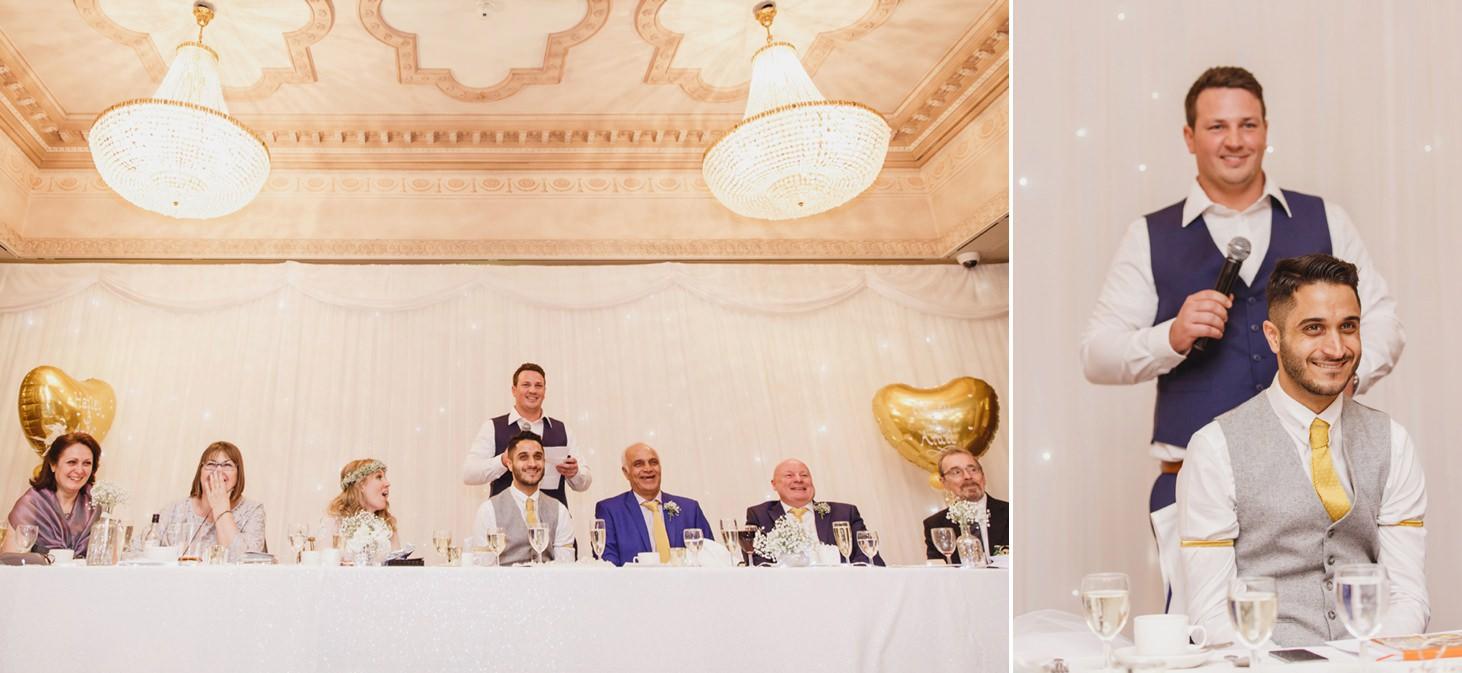Down Hall hotel wedding photography best man speech