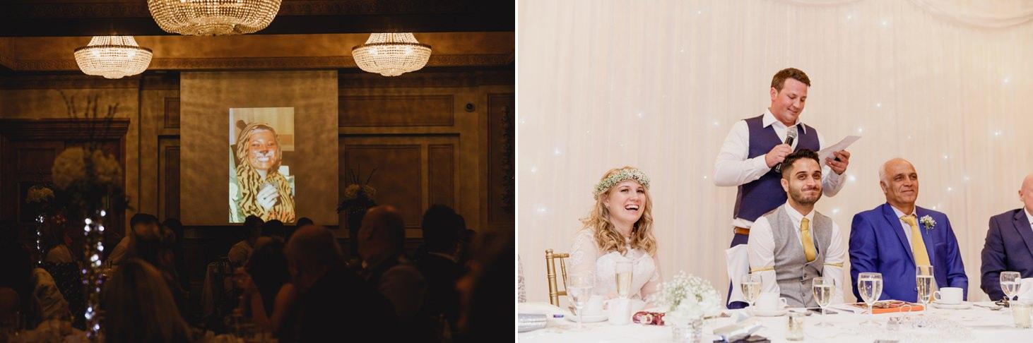 Down Hall hotel wedding photography funny speech