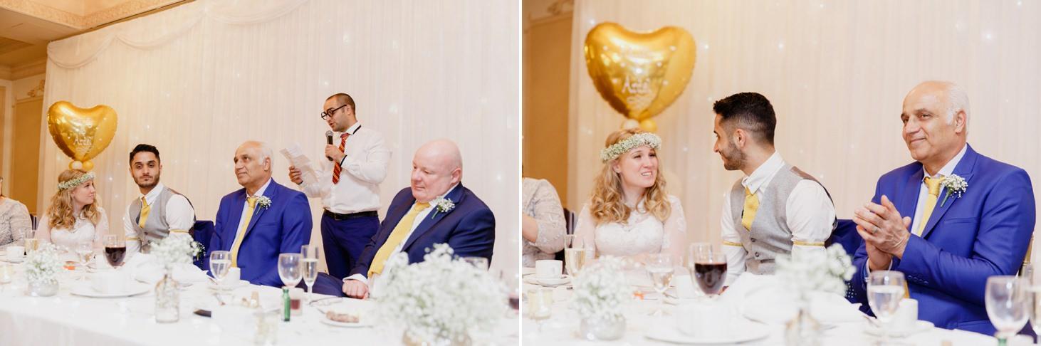 Down Hall hotel wedding photography speech by best man