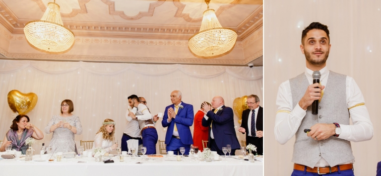 Down Hall hotel wedding photography grooms speech