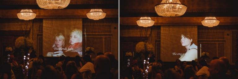 Down Hall hotel wedding photography speech slideshow