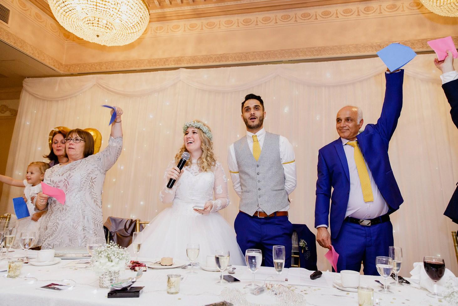 Down Hall hotel wedding photography speech quiz