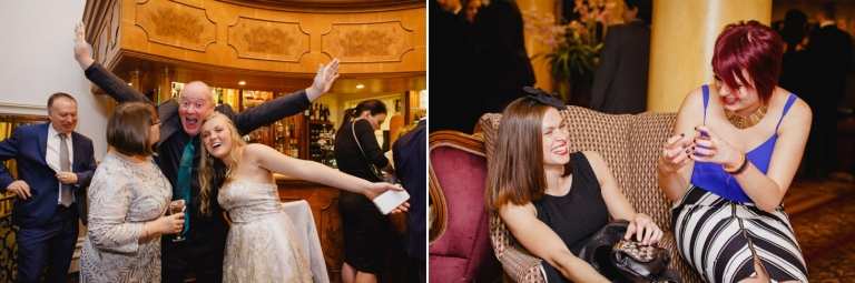 Down Hall hotel wedding photography wedding guests