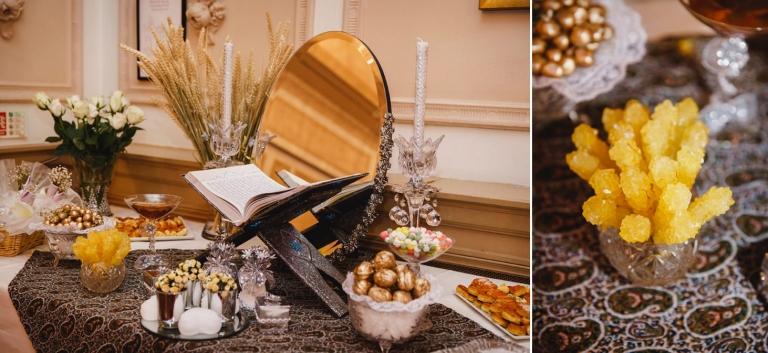 Down Hall hotel wedding photography iranian table