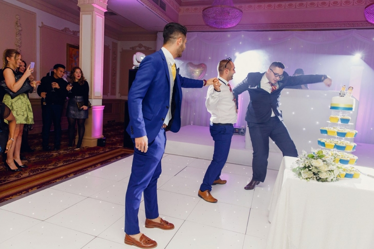 Down Hall hotel wedding photography dance mexican wave