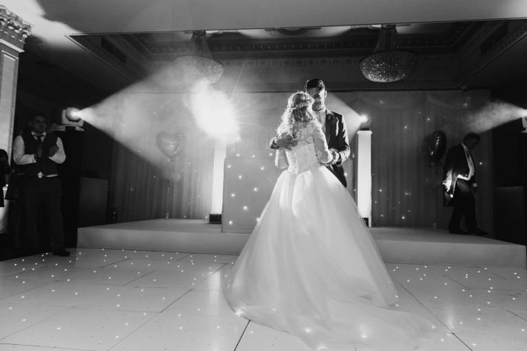 Down Hall hotel wedding photography first dance