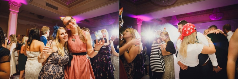 Down Hall hotel wedding photography guest dancing