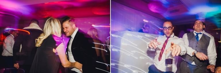 Down Hall hotel wedding photography dancing guest