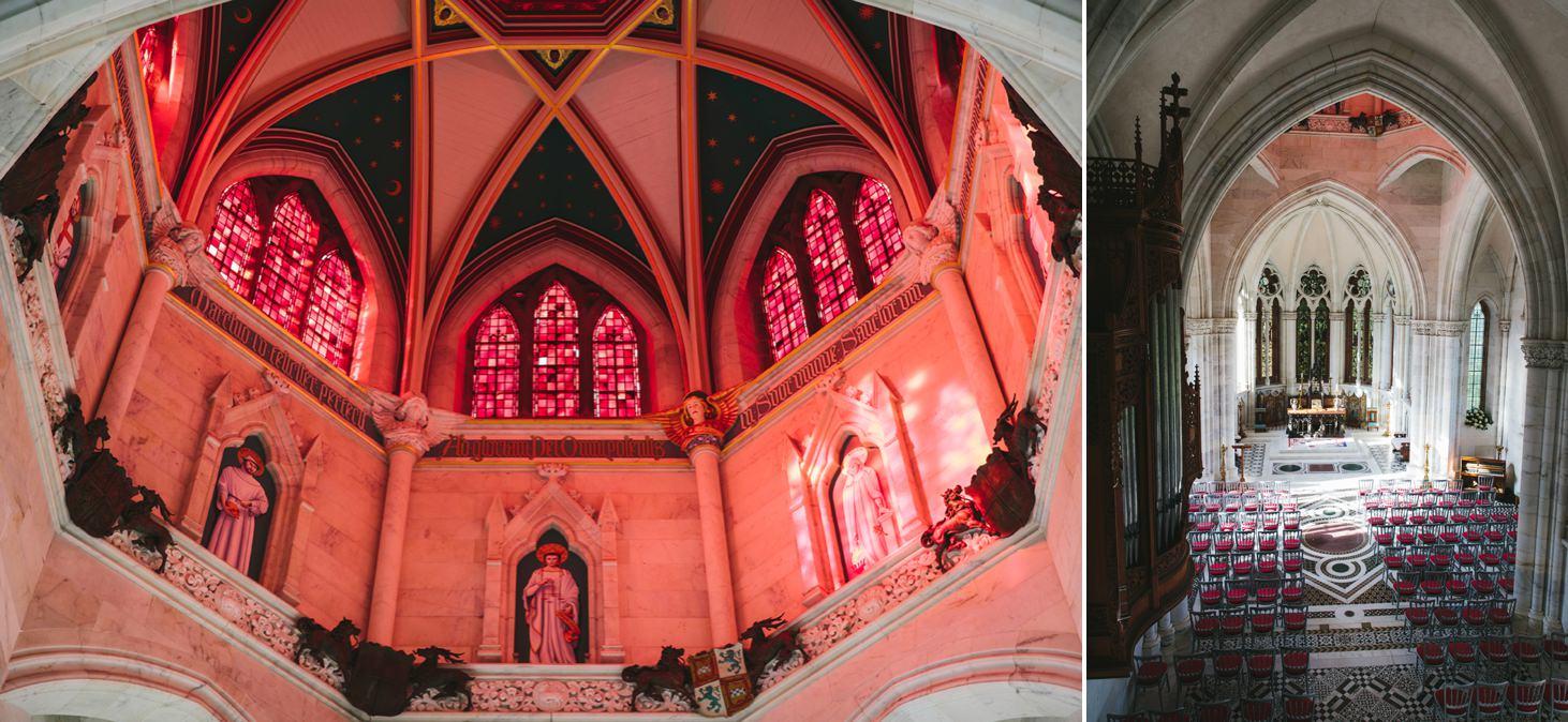 mount stuart wedding photography marble chapel ceiling