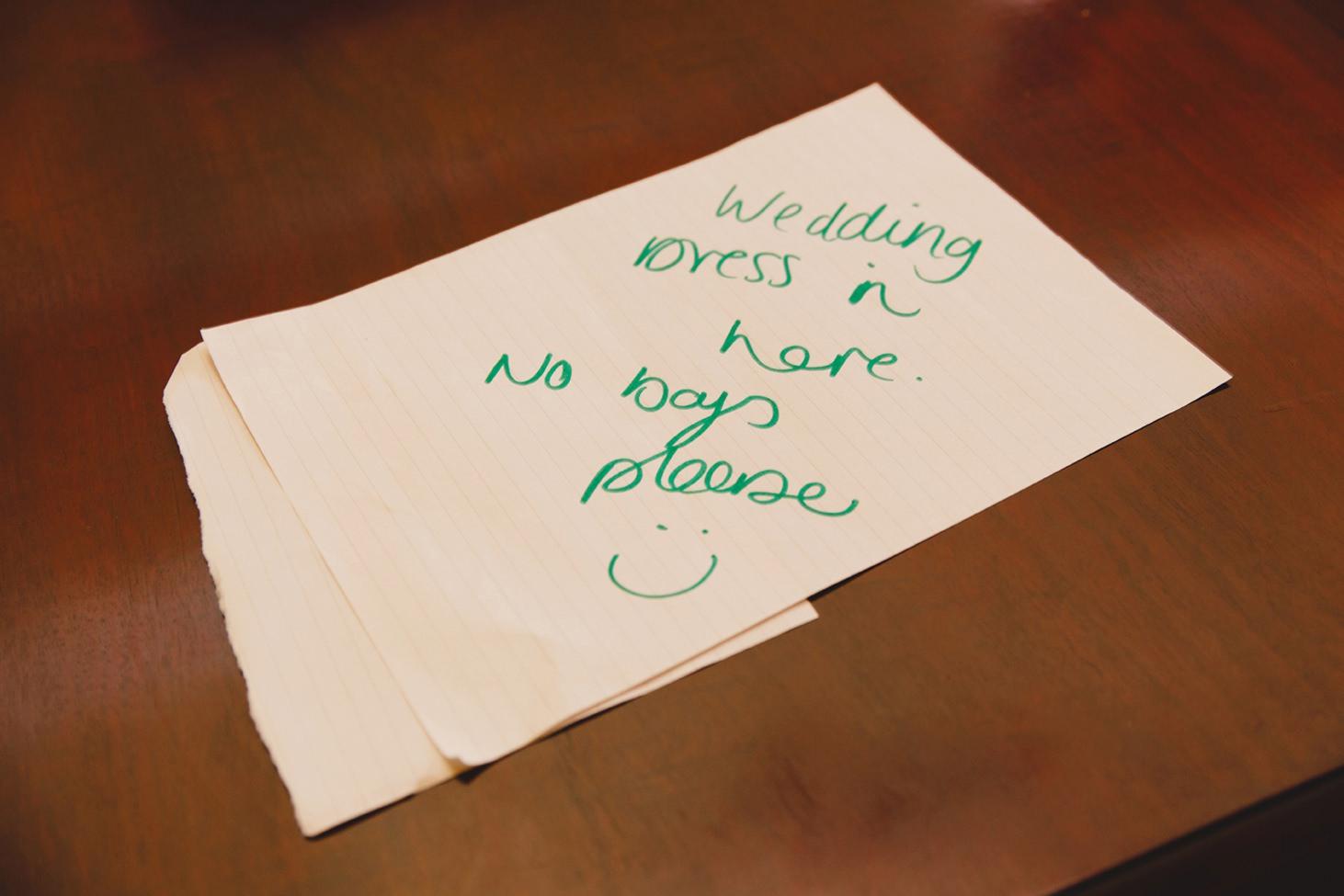 mount stuart wedding photography wedding dress note