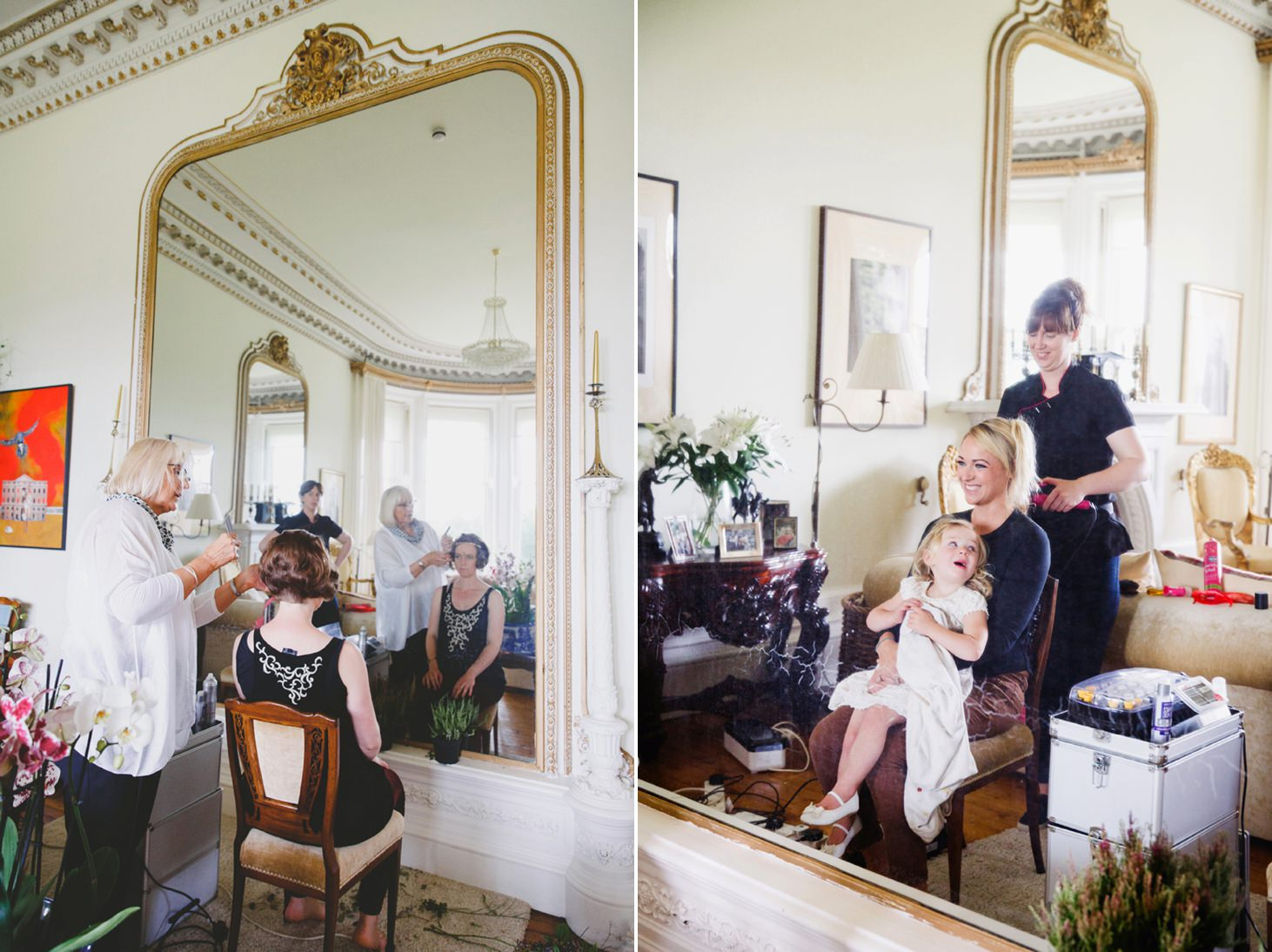 mount stuart wedding photography bridesmaids hair